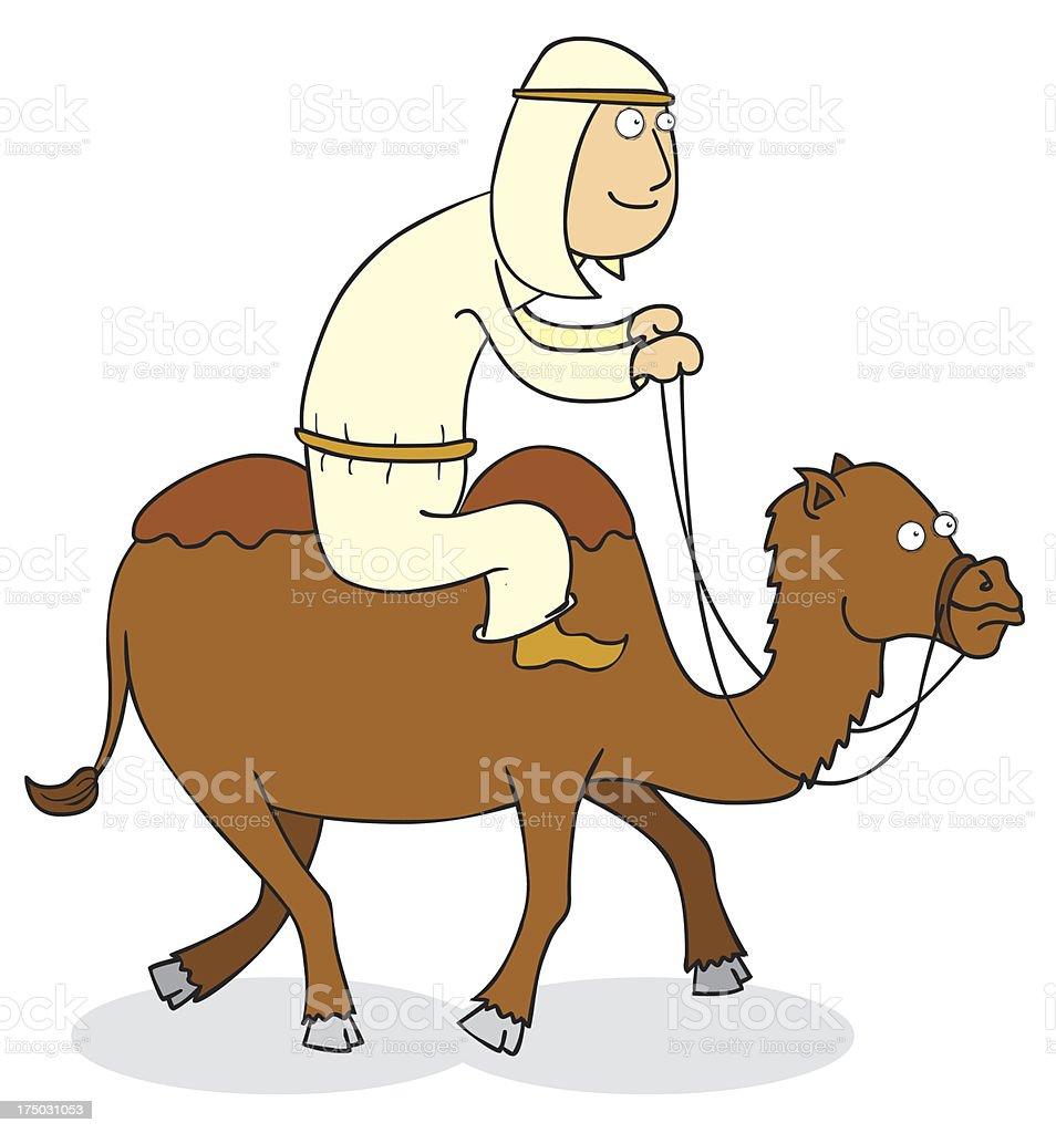 camel rider vector art illustration