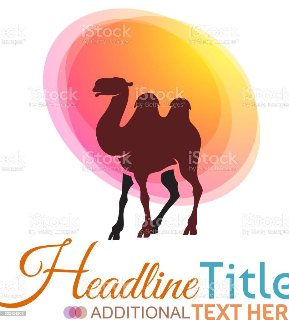 Camel Symbol vector art illustration