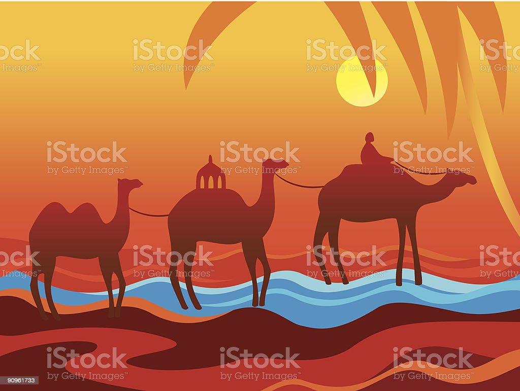 Camelcade. royalty-free stock vector art