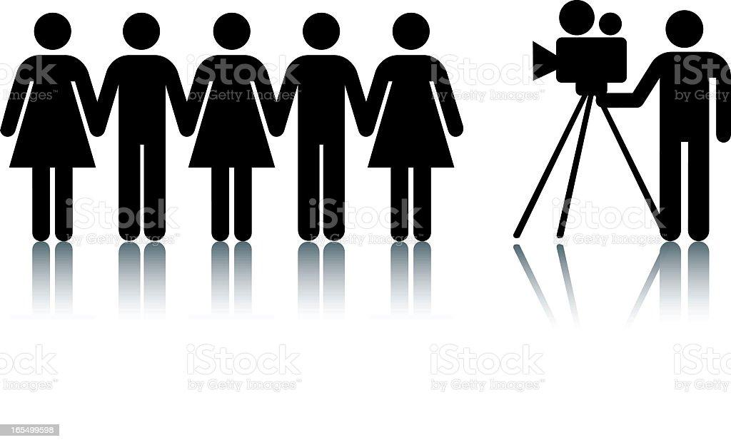 Camera, action vector art illustration