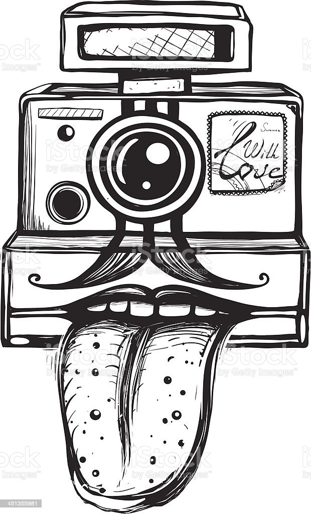 Camera and Photography Smiling Concept royalty-free stock vector art