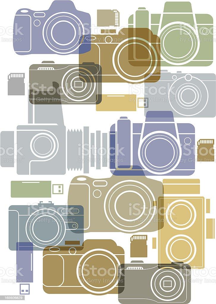 Camera background royalty-free stock vector art