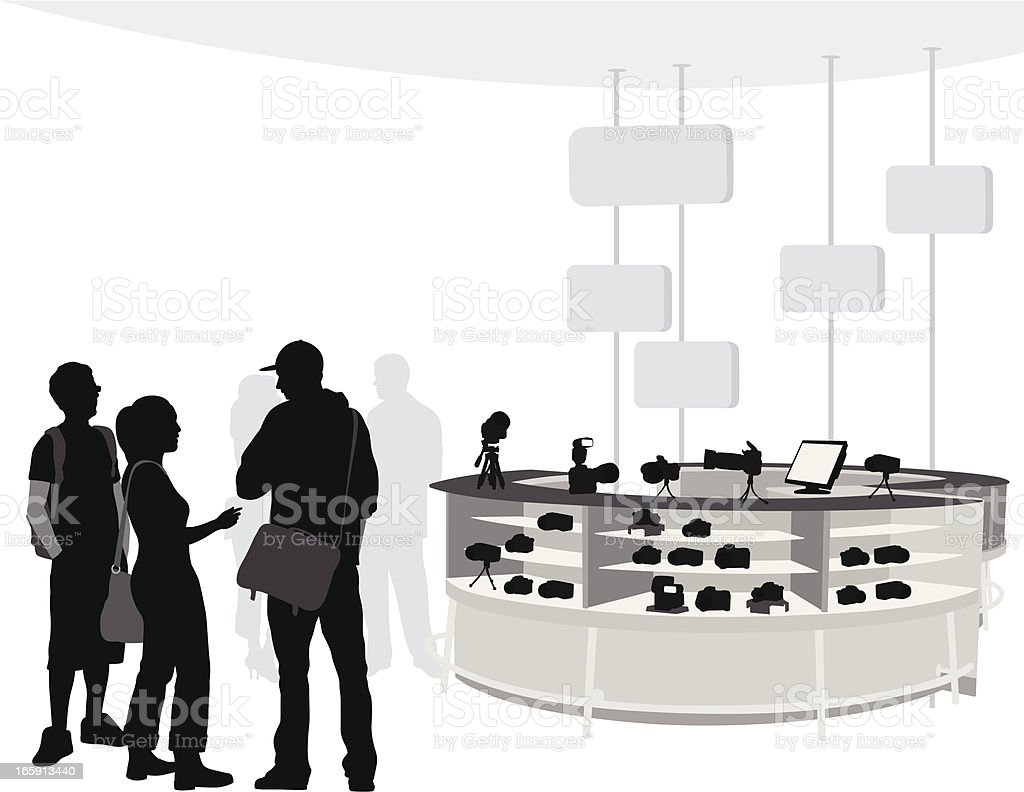 Camera Crowd Vector Silhouette royalty-free stock vector art