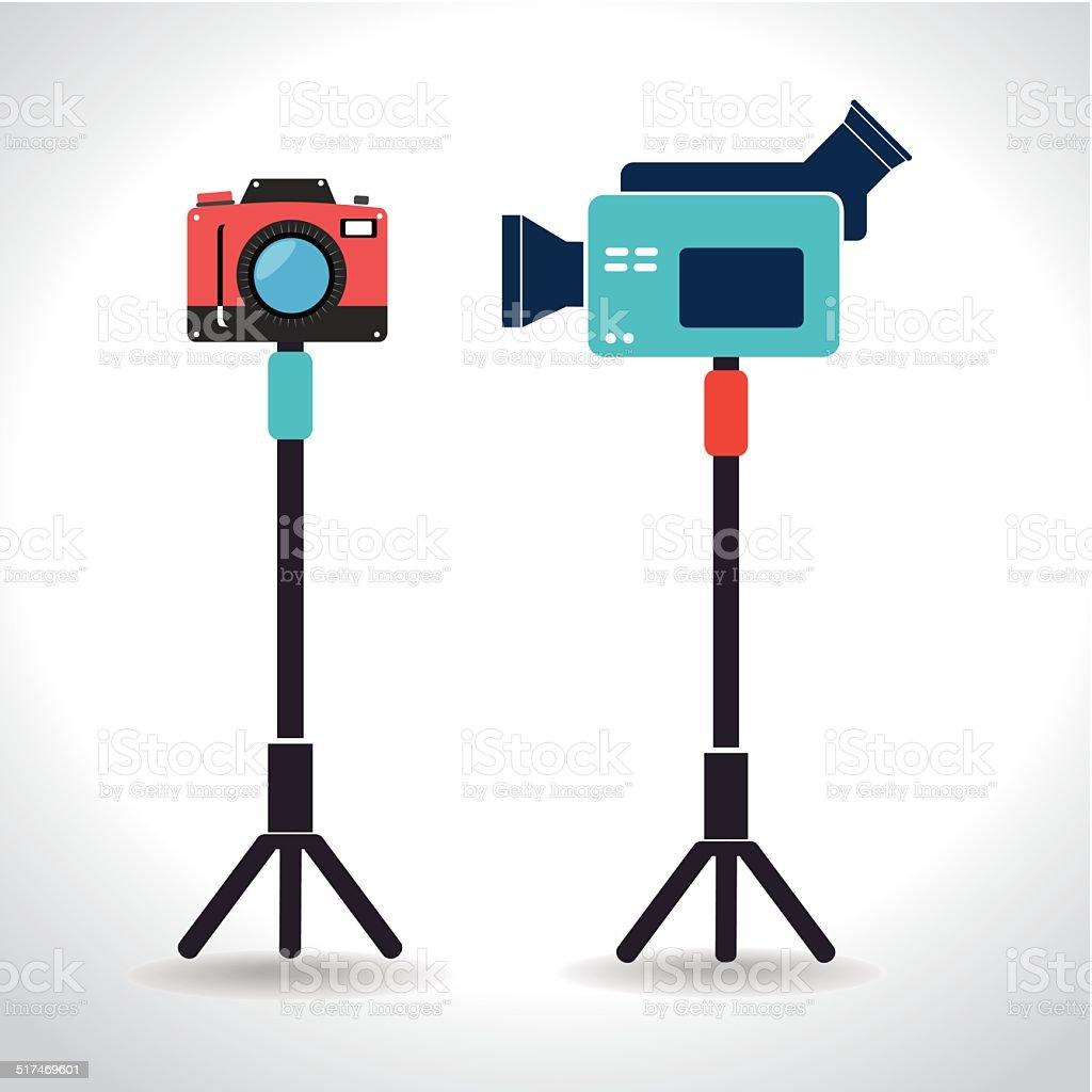 Camera design vector art illustration