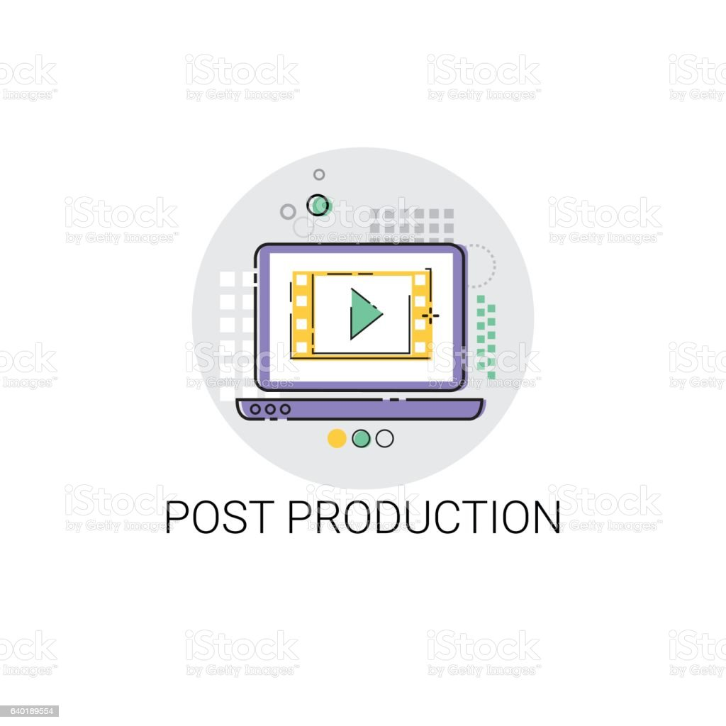 Camera Film Post Production Industry Icon vector art illustration