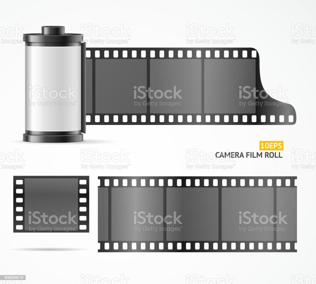 Camera Film Roll Cartrige. Vector vector art illustration