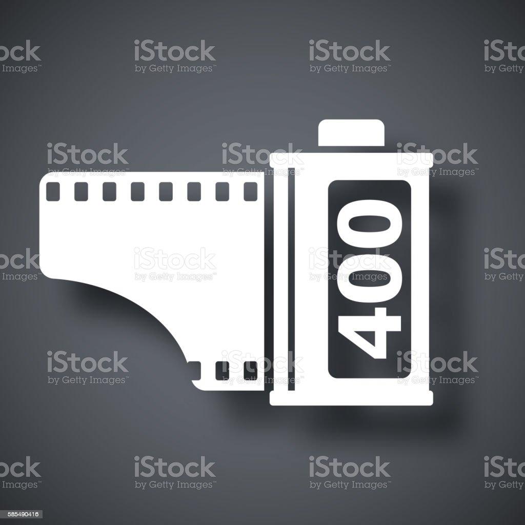 Camera film roll icon, vector vector art illustration