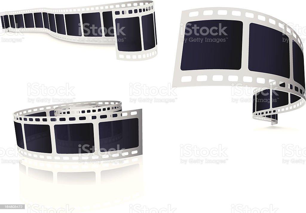 Camera Film Roll vector art illustration
