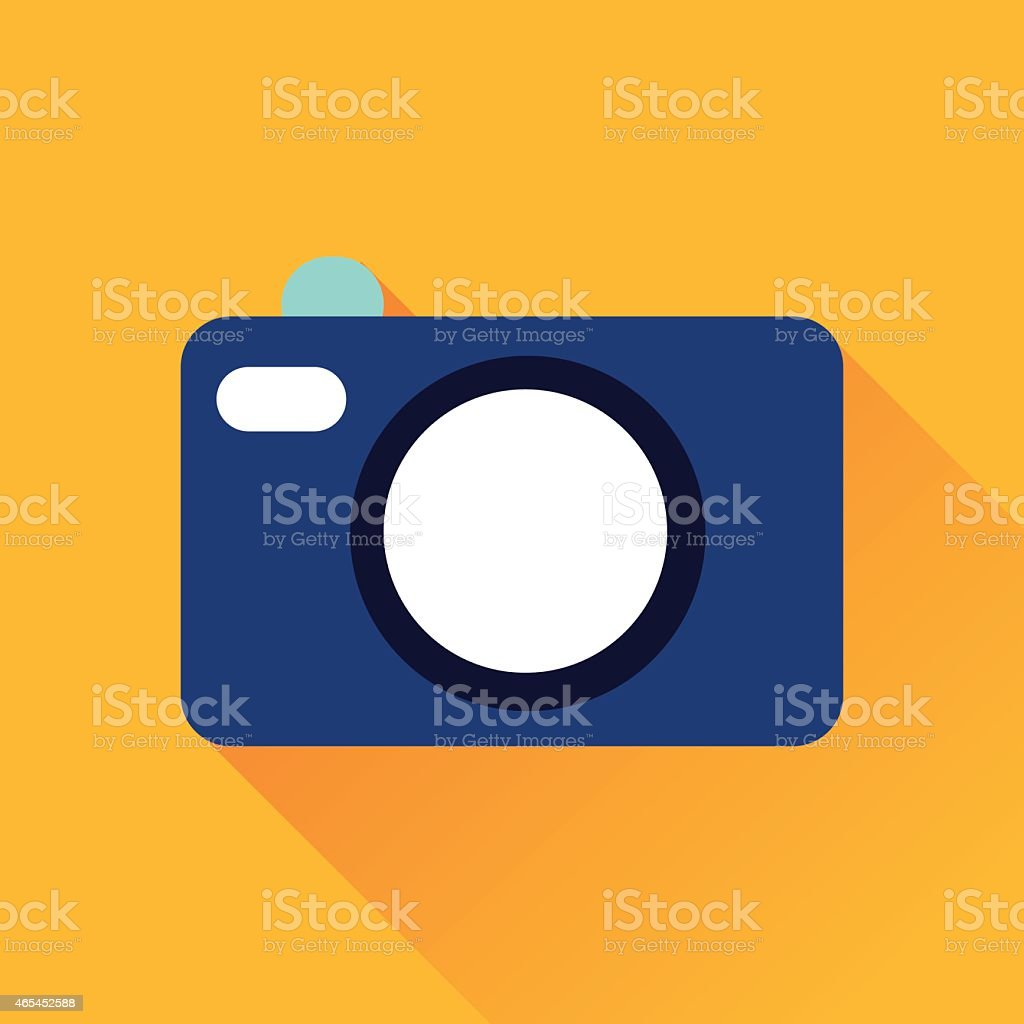 Camera Flat Icon vector art illustration