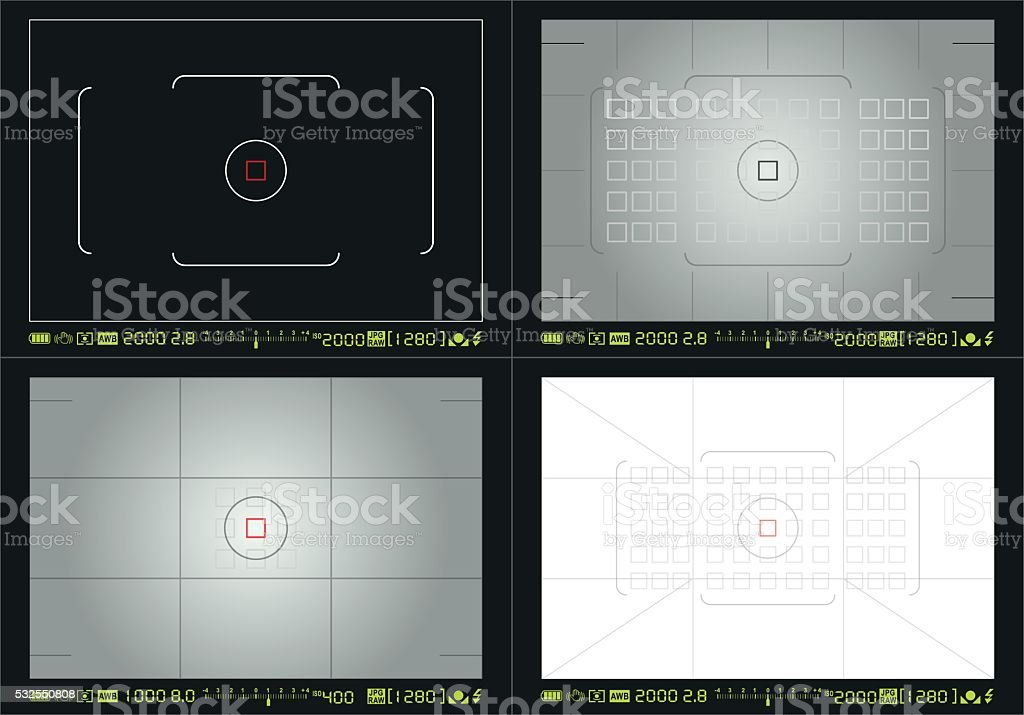 Camera focusing screen vector art illustration