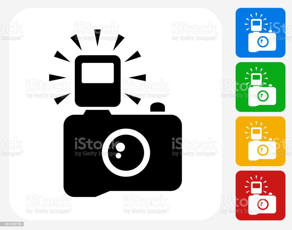 Camera Icon Flat Graphic Design vector art illustration