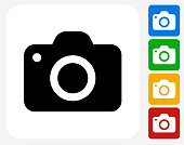 Camera Icon Flat Graphic Design