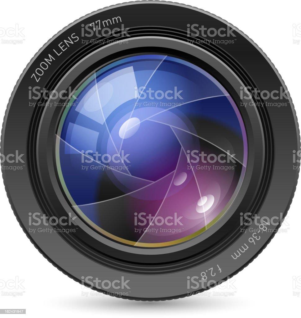 Camera icon lens royalty-free stock vector art