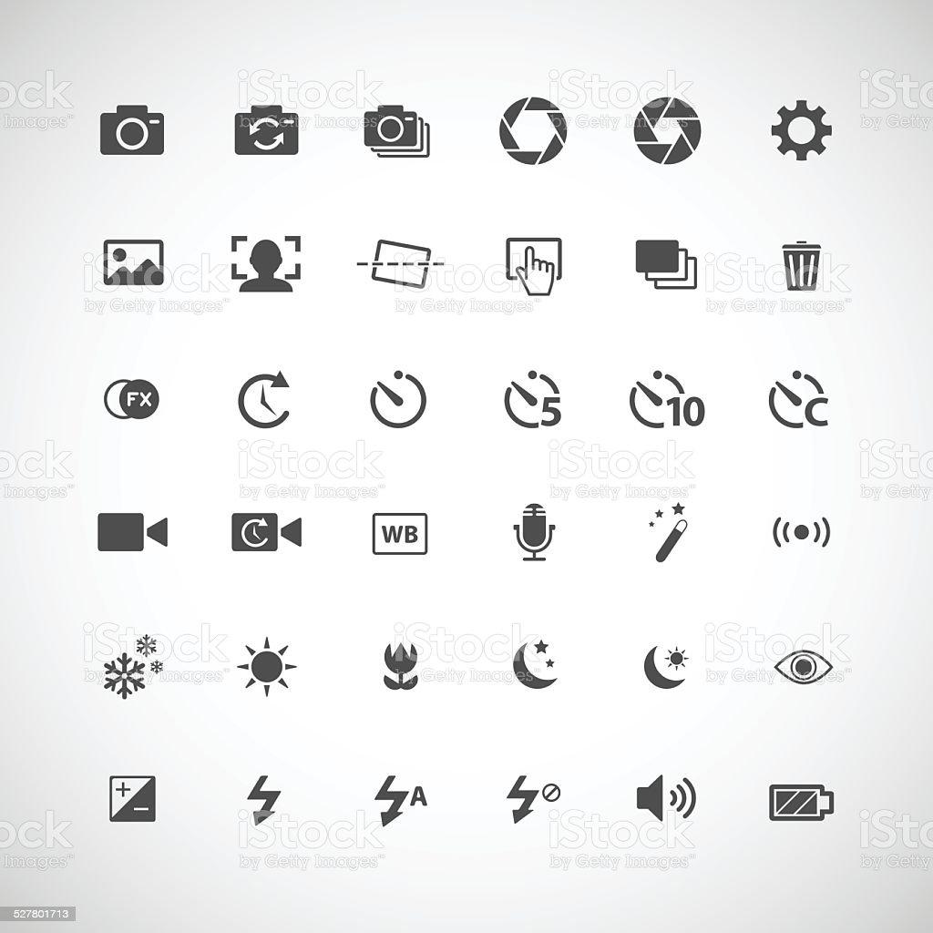 camera icon set,  vector eps10 vector art illustration