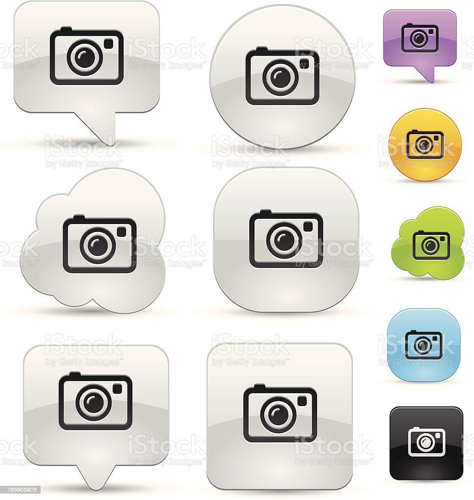 Camera icon set royalty-free stock vector art