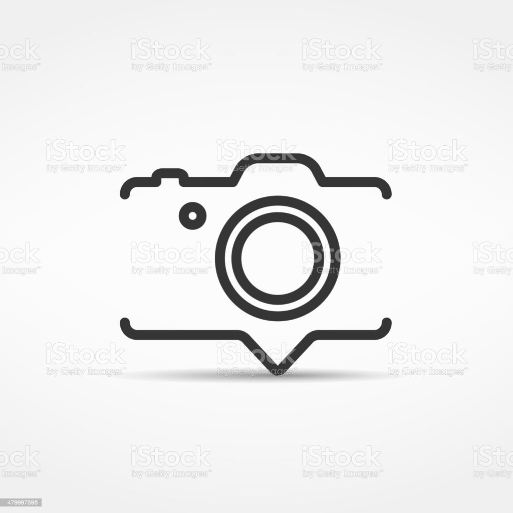 Camera Icon vector art illustration