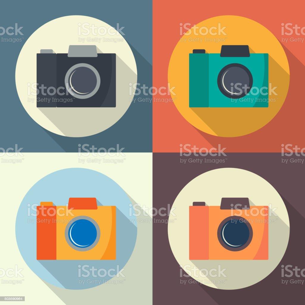 Camera icon. vector art illustration