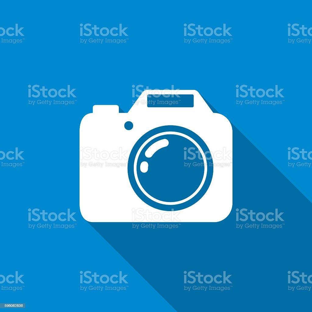 Camera Icon White vector art illustration