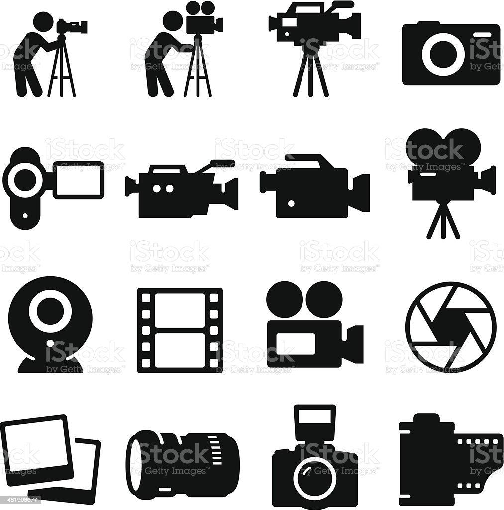 Camera Icons - Black Series royalty-free stock vector art