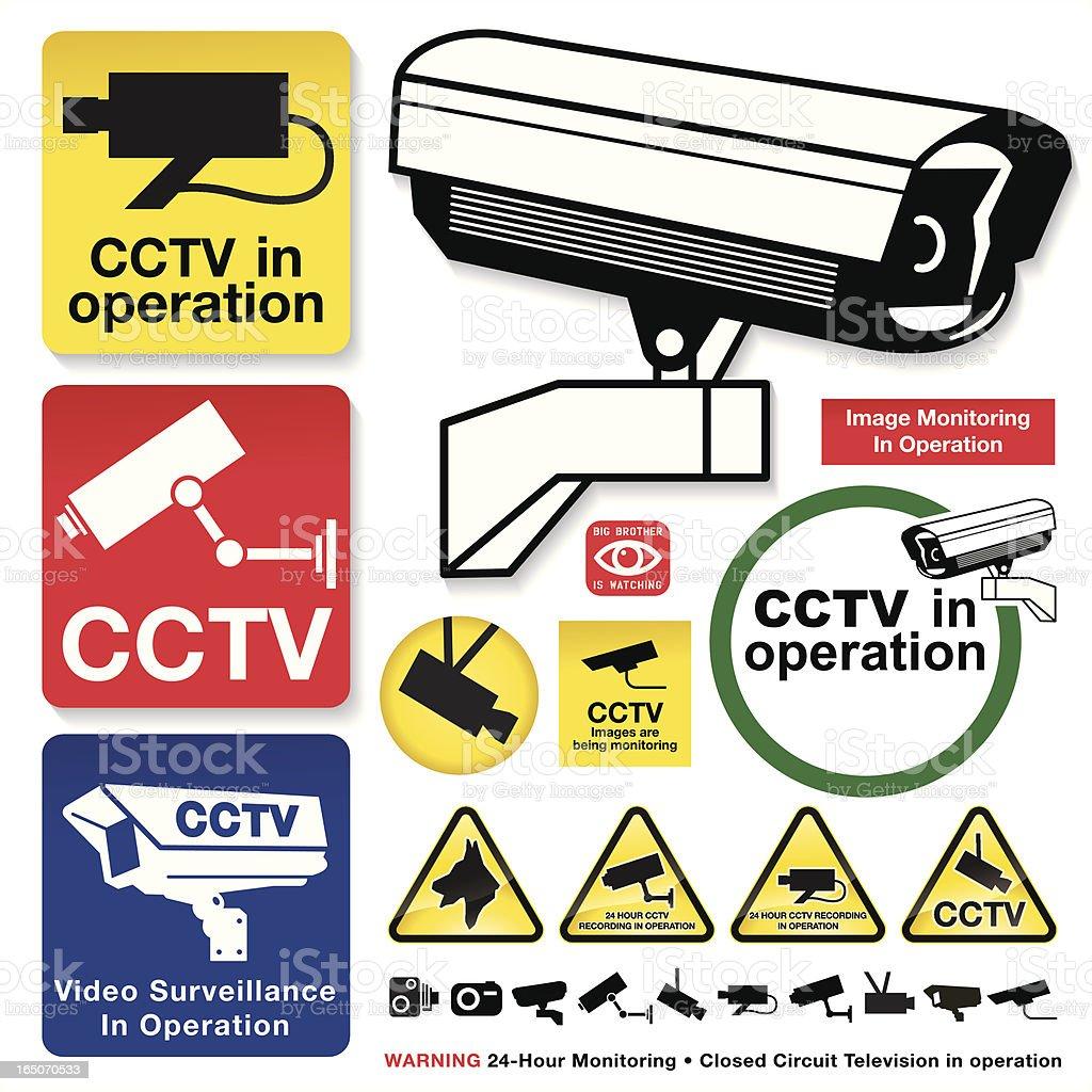 CCTV Camera Icons royalty-free stock vector art