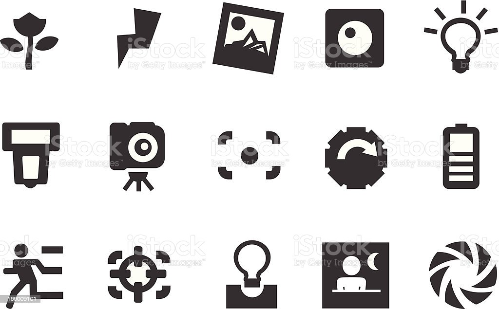Camera Icons royalty-free stock vector art