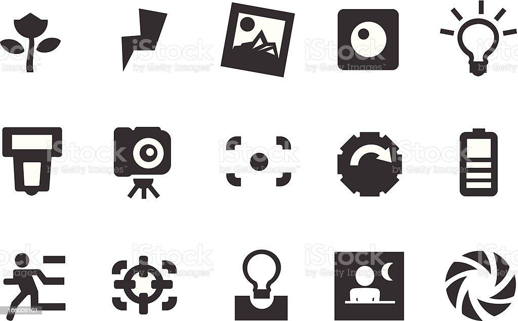 Camera Icons vector art illustration