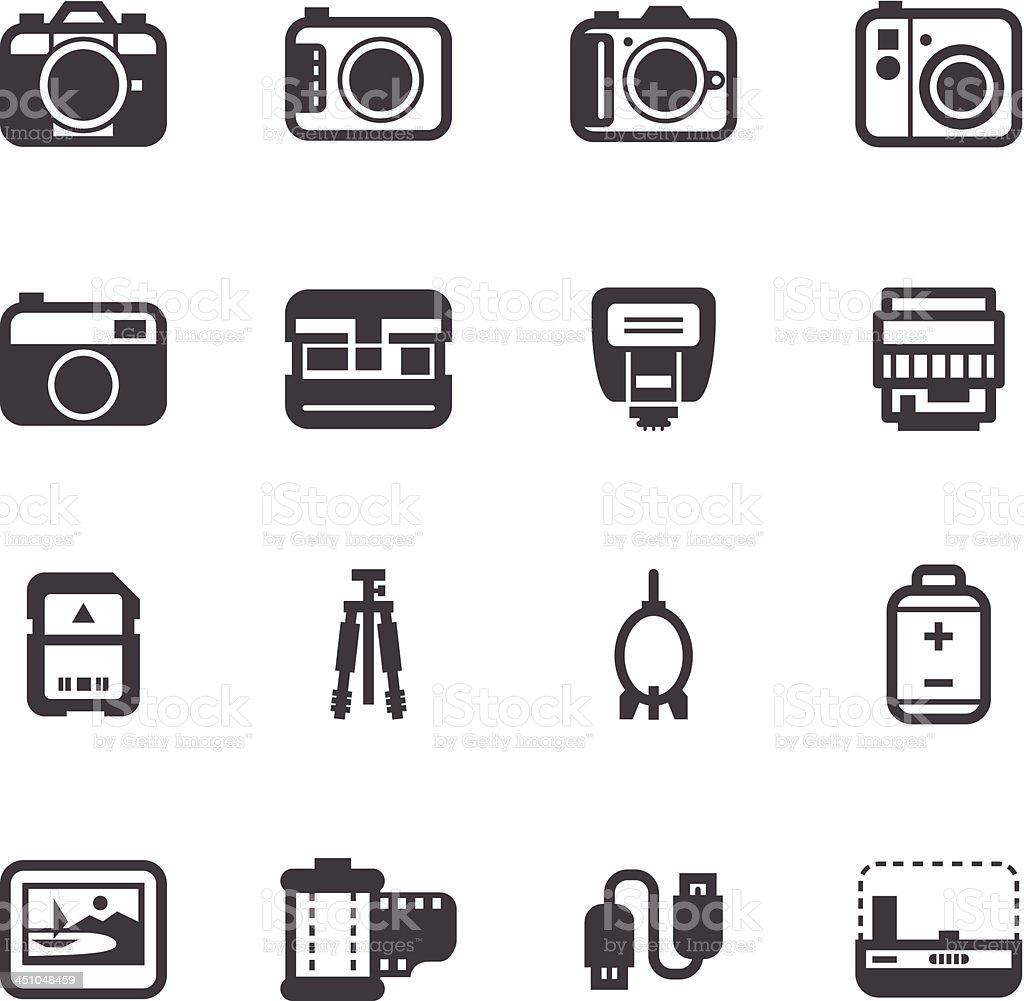 Camera Icons royalty-free stock vector art