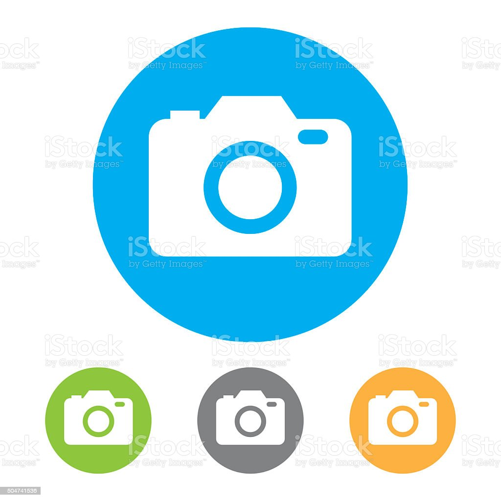 Camera Icons. Vector vector art illustration