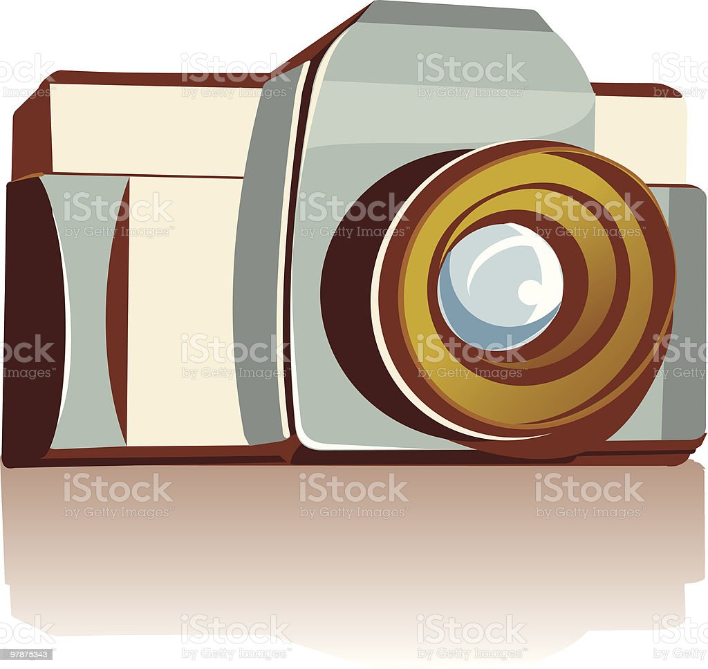 camera isolated on white royalty-free stock vector art