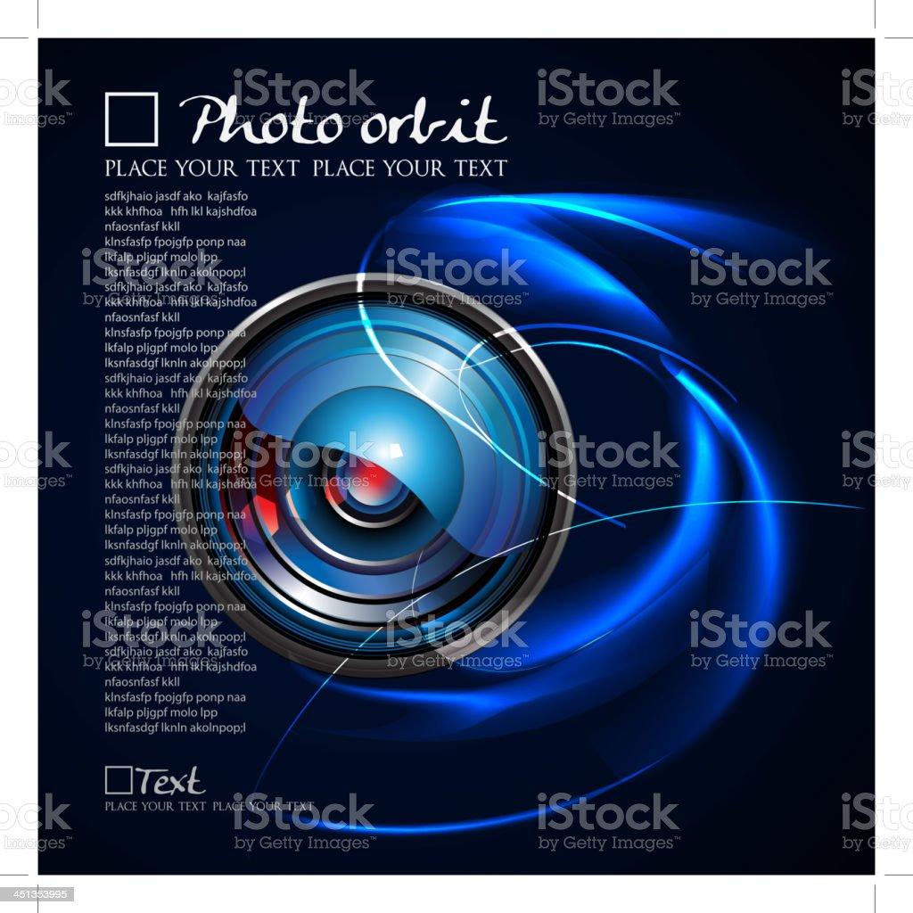 Camera Lens Orbit vector art illustration