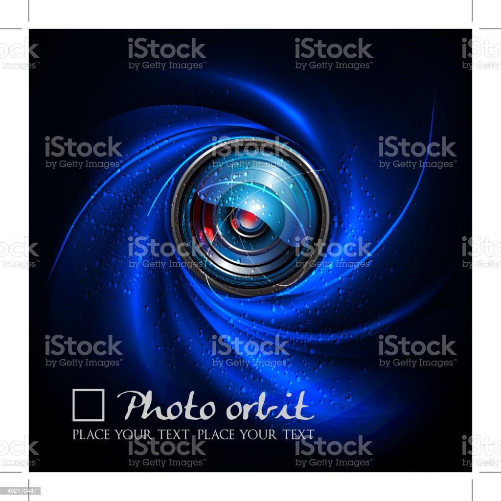 Camera Lens Orbit royalty-free stock vector art