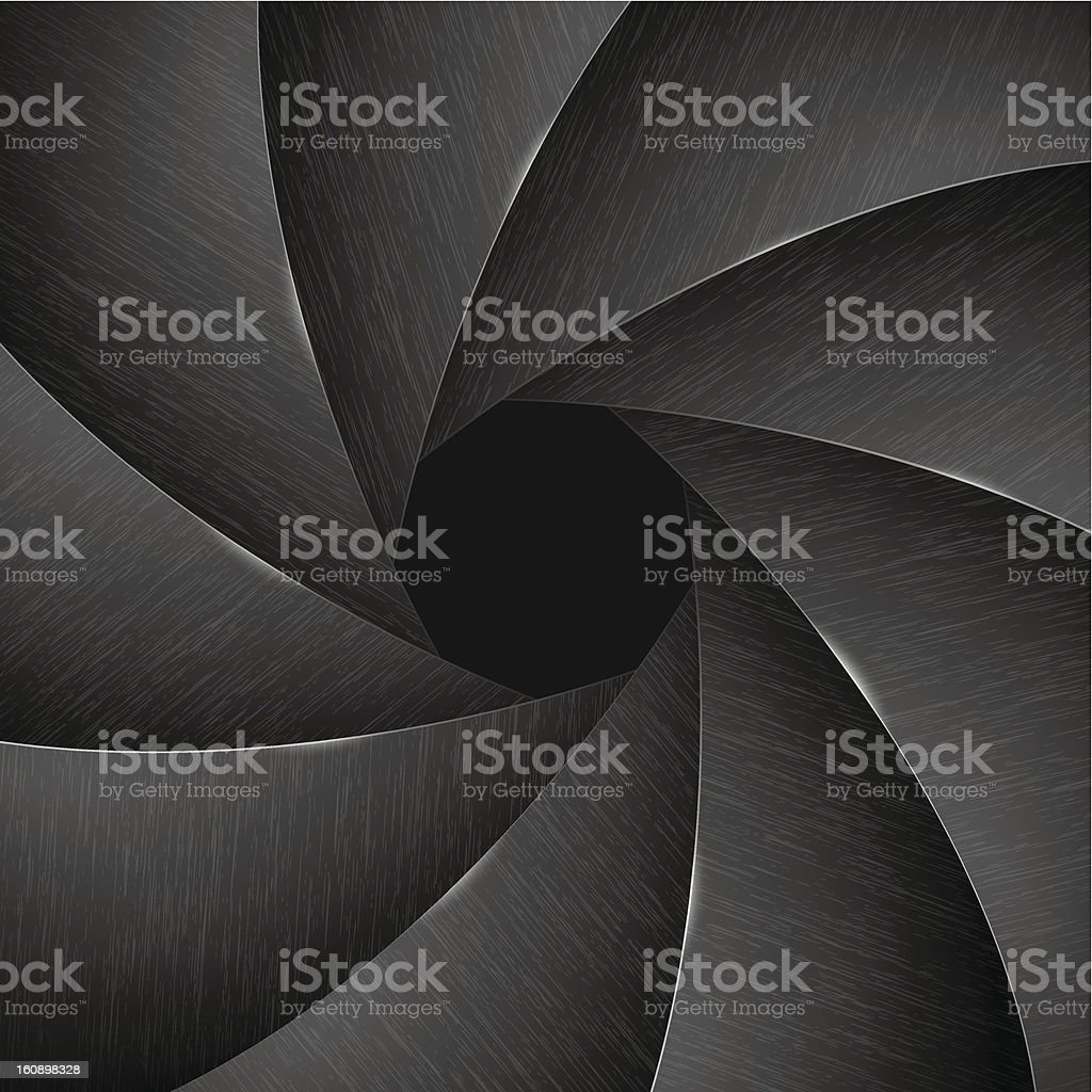 Camera lens shutter royalty-free stock vector art