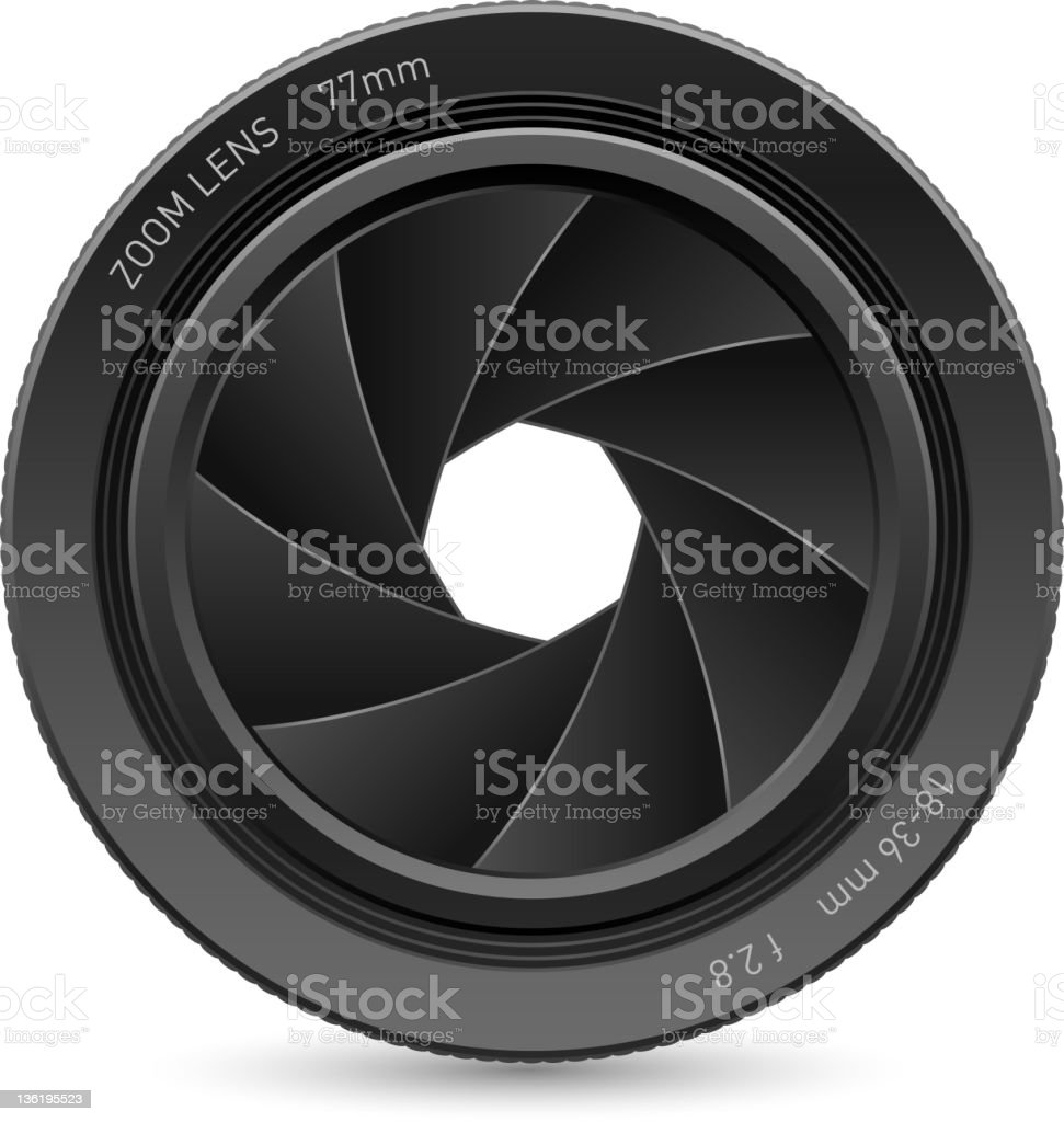 Camera lens. vector art illustration
