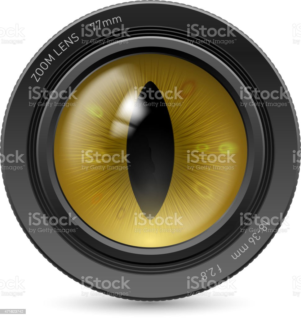 Camera  lens vector art illustration