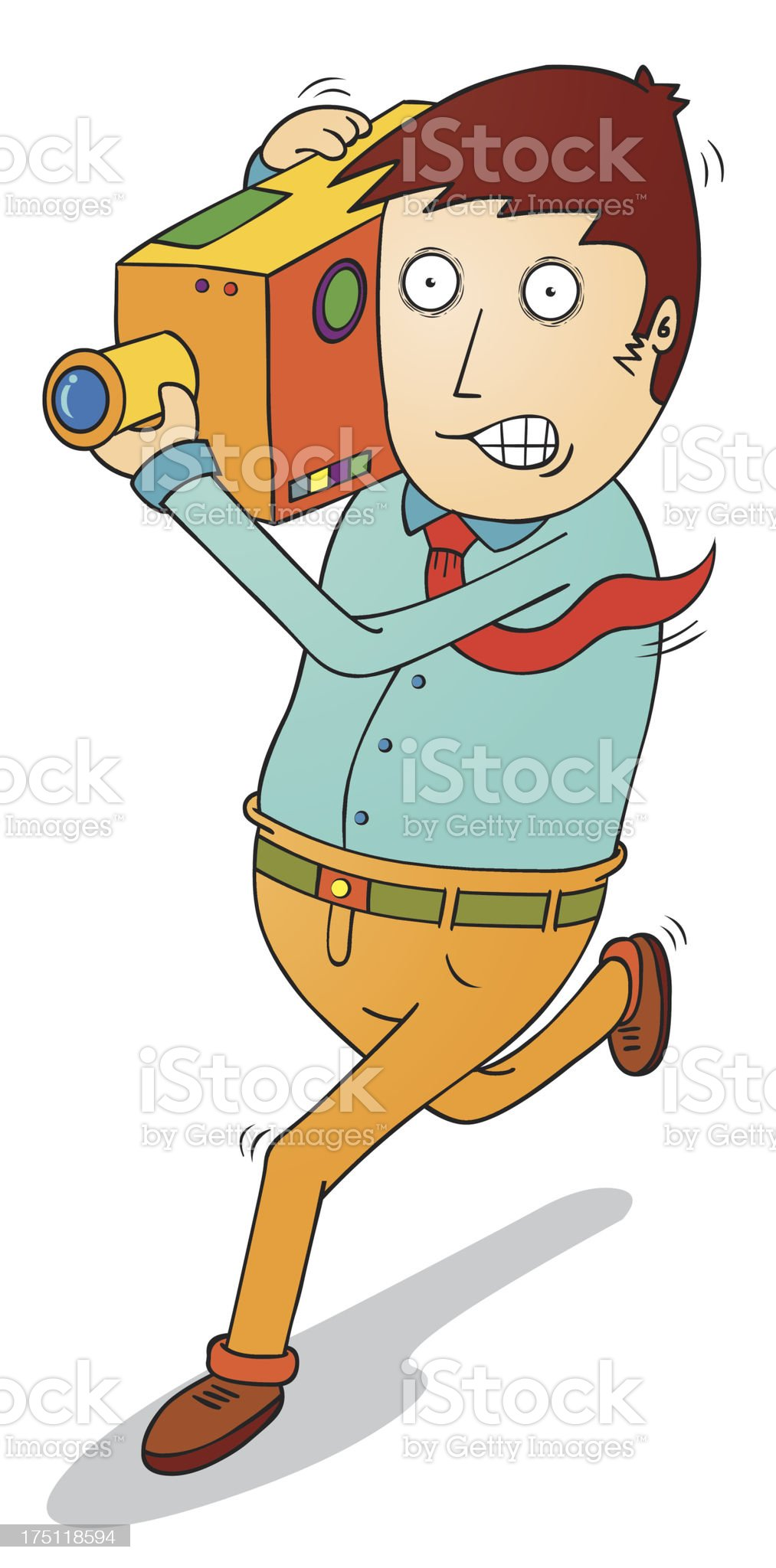 camera man royalty-free stock vector art