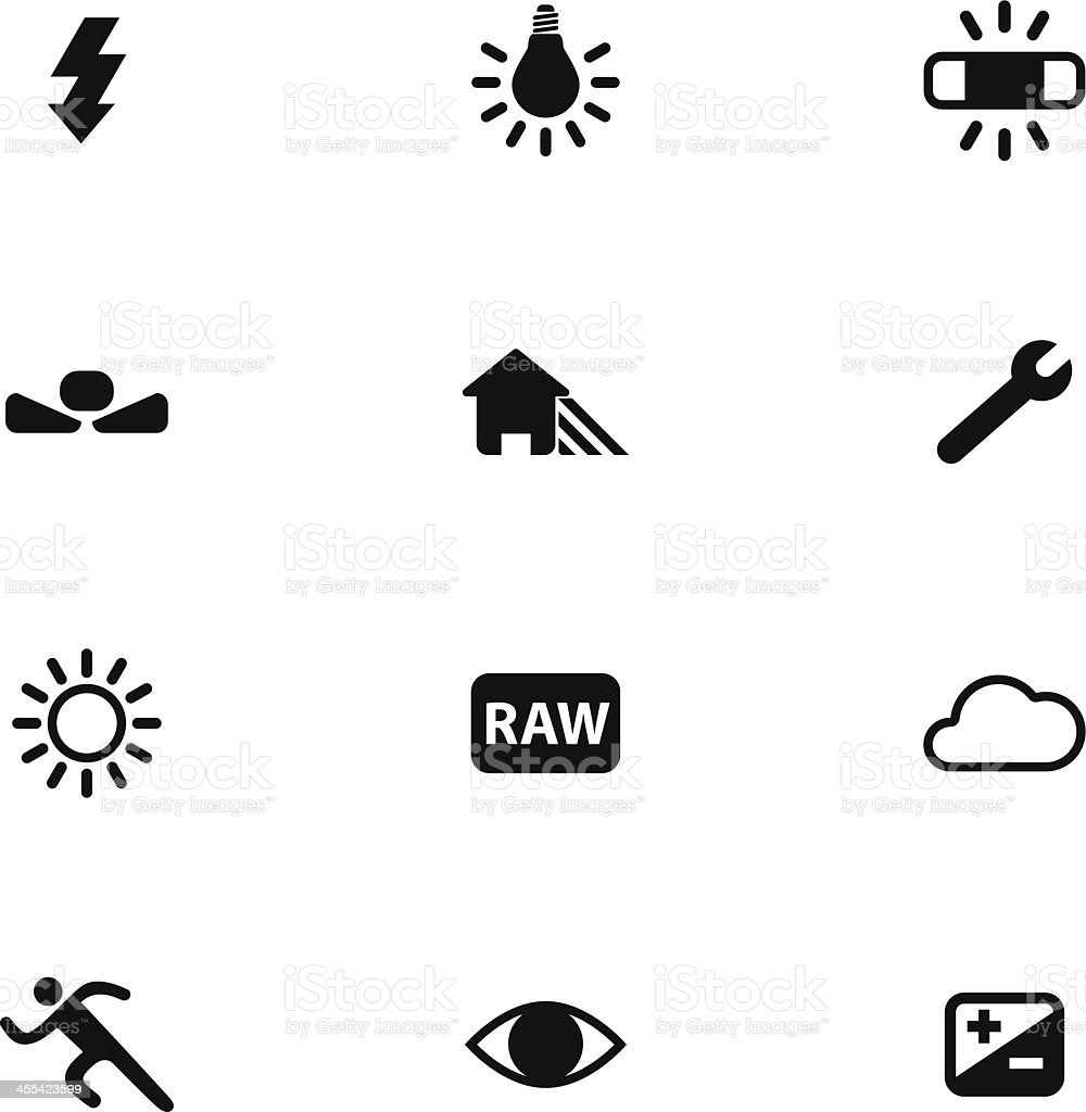 Camera Menu Icon Set vector art illustration