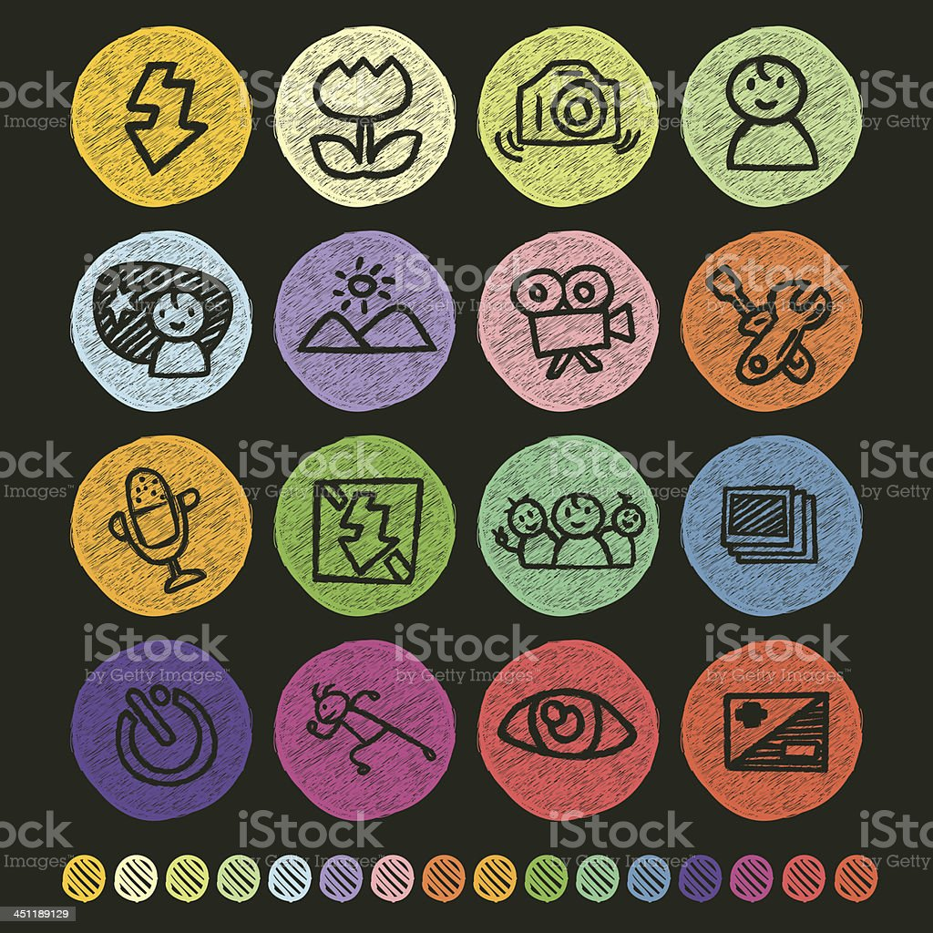 Camera Menu Icon royalty-free stock vector art