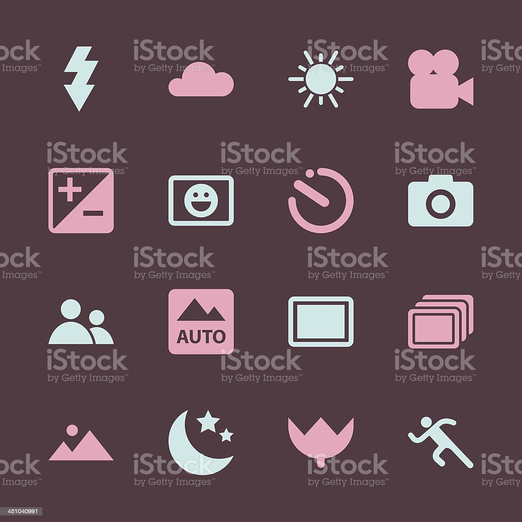 Camera Menu Icons Set 1 - Color Series | EPS10 vector art illustration