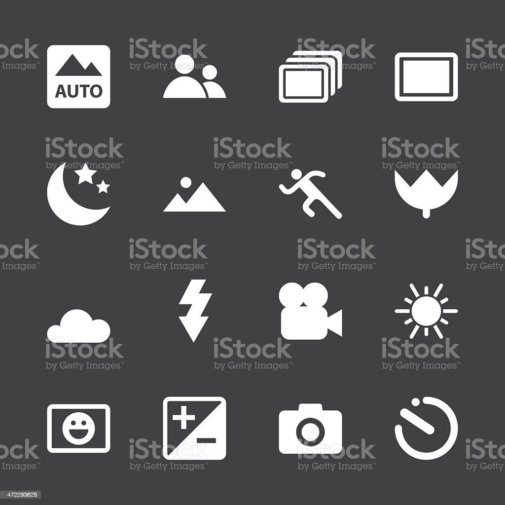 Camera Menu Icons Set 1 - White Series | EPS10 royalty-free stock vector art