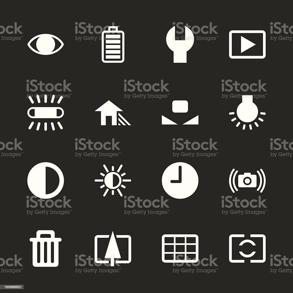 Camera Menu Icons Set 2 - White Series | EPS10 royalty-free stock vector art