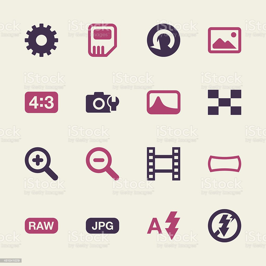 Camera Menu Icons Set - Color Series | EPS10 vector art illustration