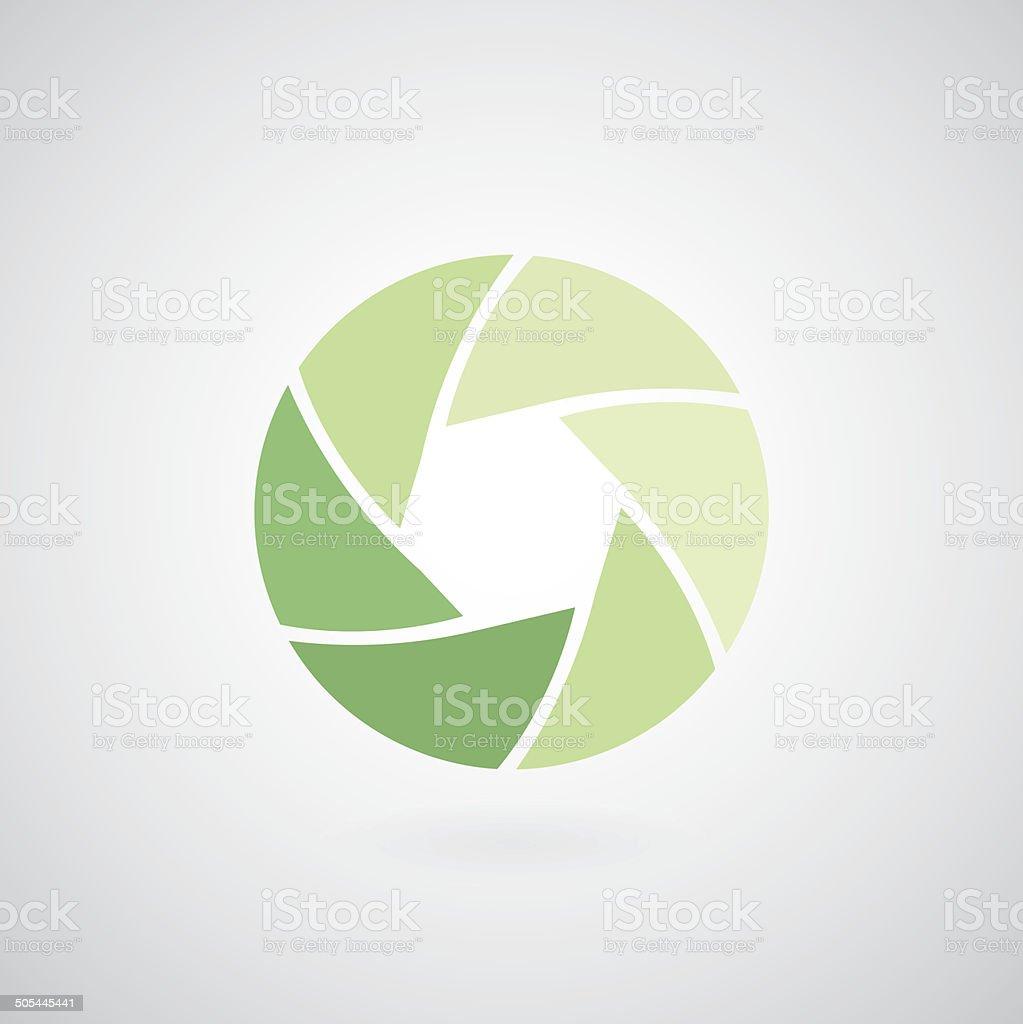 camera objective icon vector art illustration