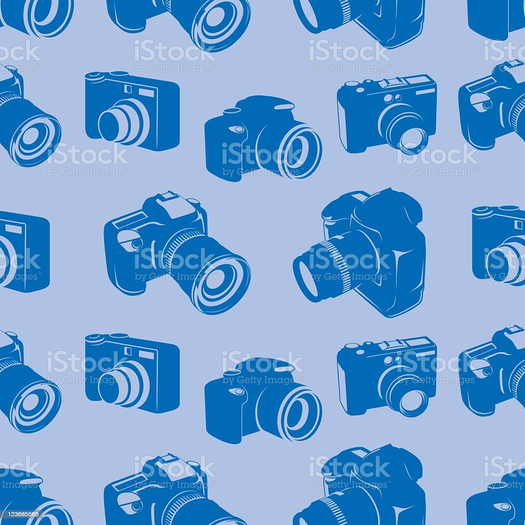 Camera seamless tile pattern royalty-free stock vector art