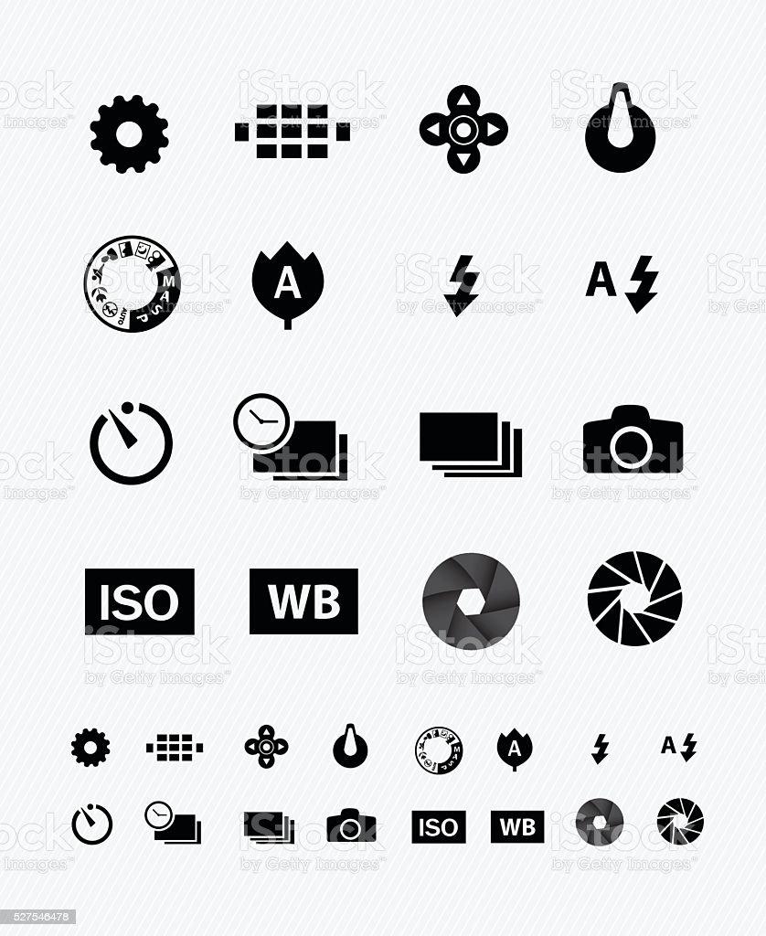 camera setting vector art illustration