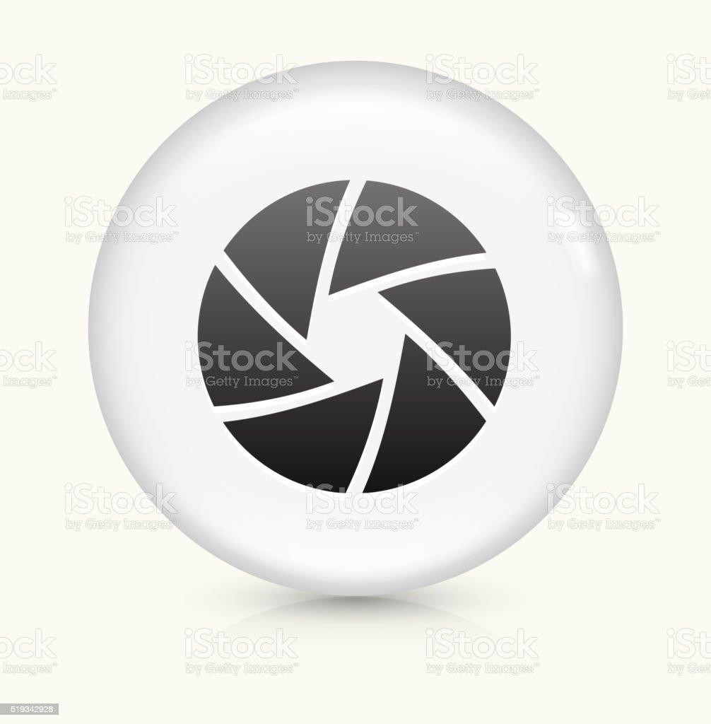 Camera Shutter icon on white round vector button vector art illustration