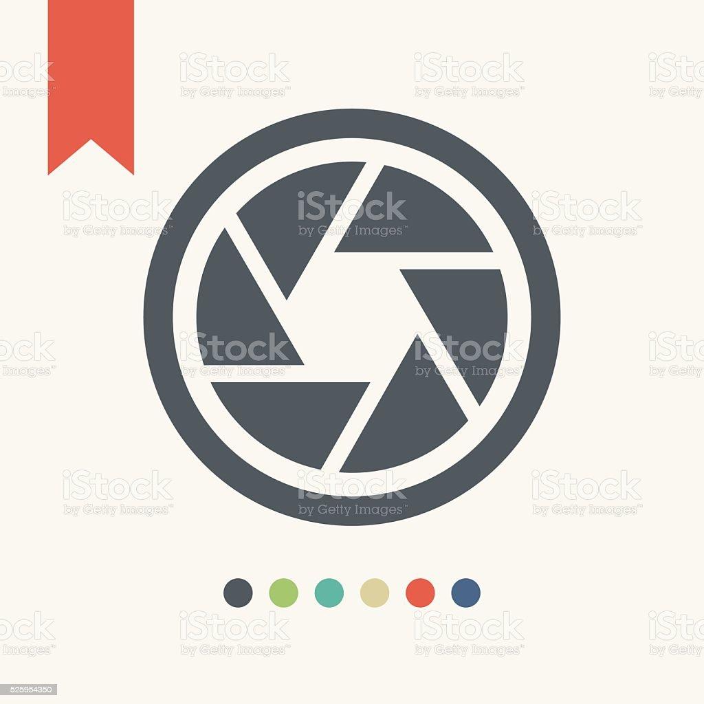 camera shutter icon vector art illustration