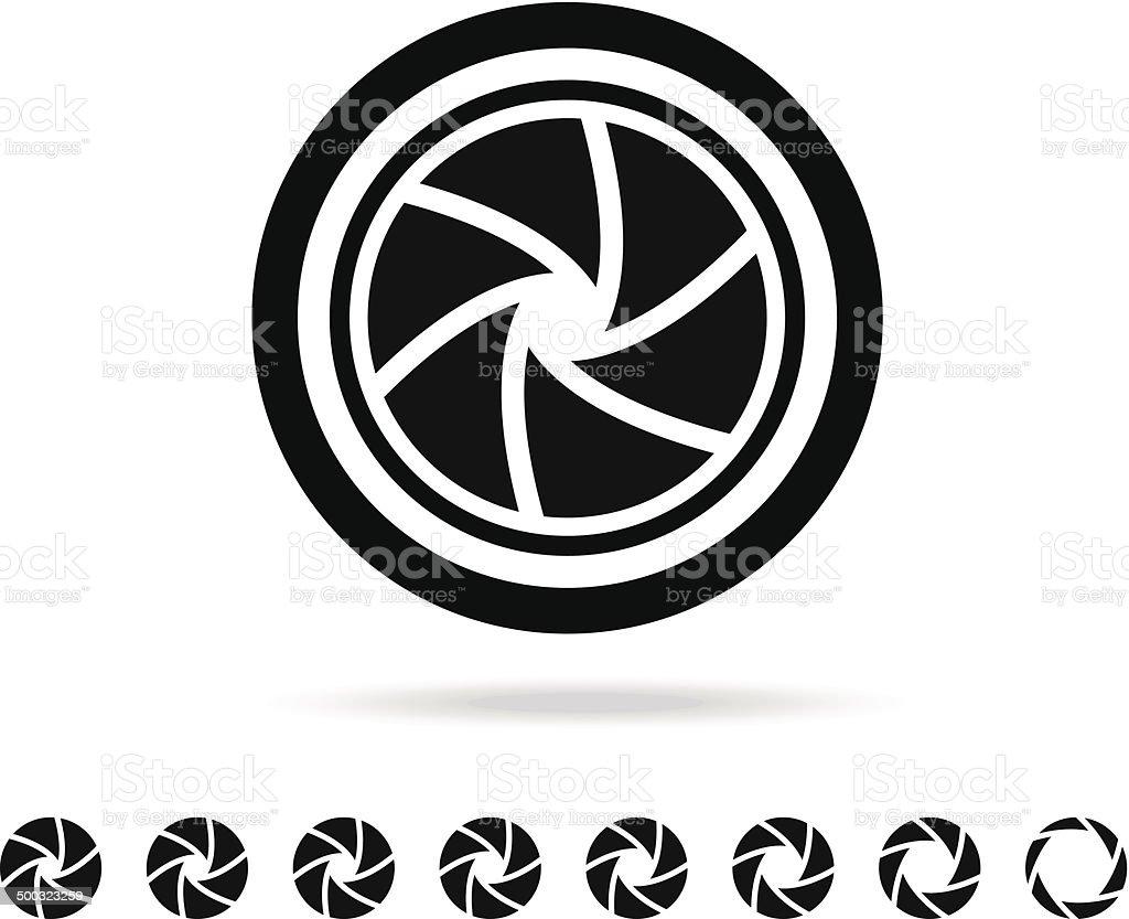 camera shutter illustration vector art illustration