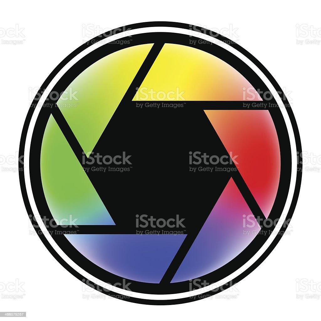 camera shutter symbols vector illustration royalty-free stock vector art