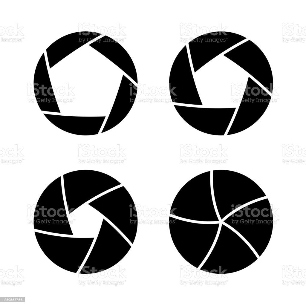 Camera Shutter vector art illustration