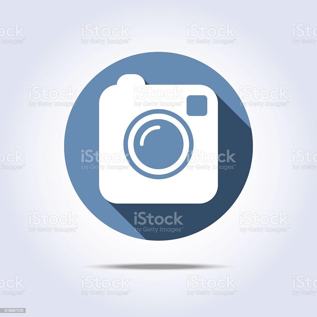 Camera simple icon vector art illustration